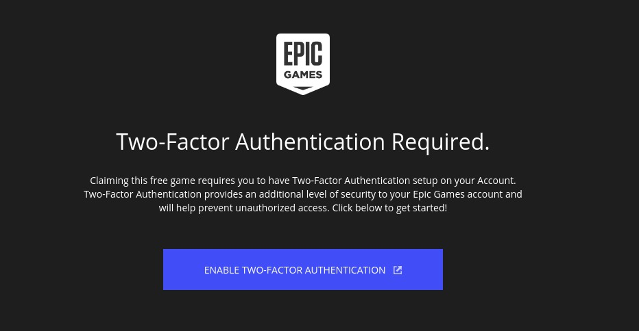 authentication epic games