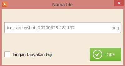 screenshot di laptop